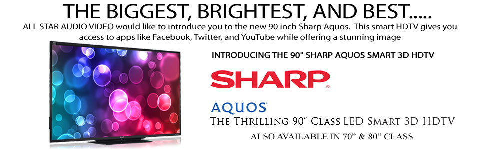 90-inch Sharp Aquos Smart 3D HDTV